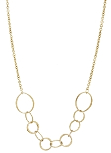 People Tree Organic Circle Necklace - Gold