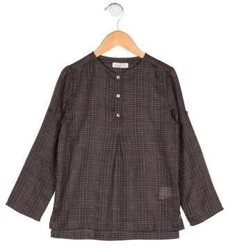 Anais & I Girls' Plaid Long Sleeve Top
