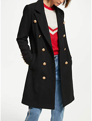 Y.A.S Goldia Double Breasted Coat, Black