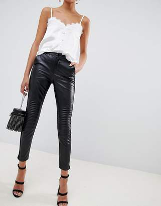 Outrageous Fortune leather look pant in black