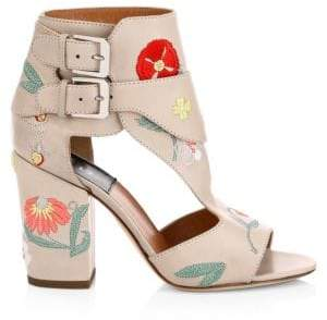 0d7b949cb Laurence Dacade Women s Rush Herbarium Floral Leather Sandals - Size 39.5  ...