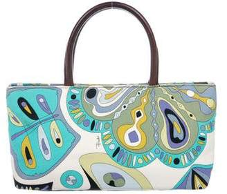 Emilio Pucci Leather-Trimmed Handle Bag