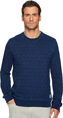 Lucky Brand Men's Quilted Crew Neck Sweater
