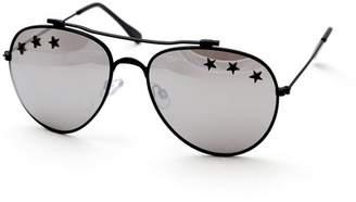 66ded9e7dea43 Steve Madden 60MM Black Aviator Sunglasses