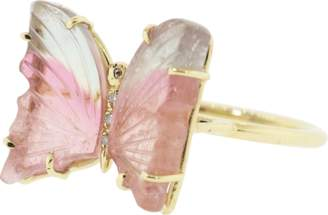Jacquie Aiche Medium Tourmaline Butterfly Ring