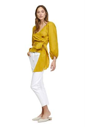 Country Road Linen Wrap Blouse