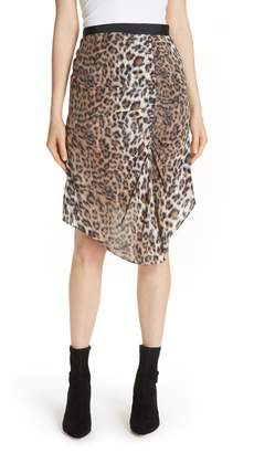 Joie Ornica Leopard Print Skirt