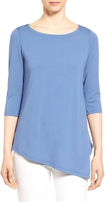 Eileen Fisher Asymmetrical Three Quarter Sleeve Top (Online Only) $138 thestylecure.com