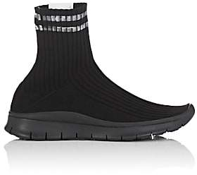 Maison Margiela Women's Stripe-Detail Sock Sneakers - Black