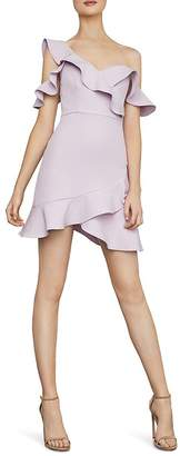 BCBGMAXAZRIA Ruffled Cold-Shoulder Dress - 100% Exclusive