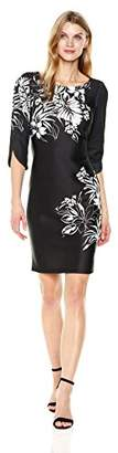 Julian Taylor Women's Printed Dress with Sleeve Detail