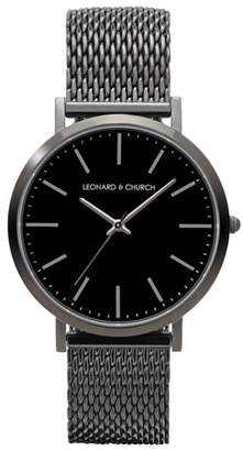 Church's LEONARD AND Leonard & Essex Mesh Strap Watch, 40mm
