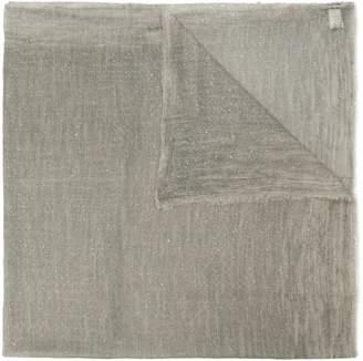Faliero Sarti woven raw-edge scarf