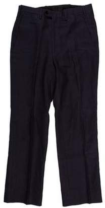 Kiton Wool Flat Front Pants