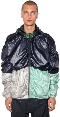 Y/Project Draped Color Block Nylon Bomber