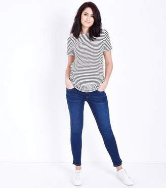 New Look Maternity Blue Rinse Under Bump Skinny Jeans