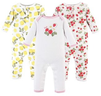 Hudson Baby One-Piece Rompers, 3-pack (Baby Girls)