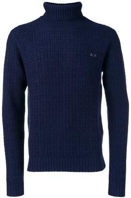 Sun 68 textured turtleneck sweater