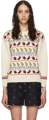 Gucci Off-White Fruit Salad Crewneck Sweater