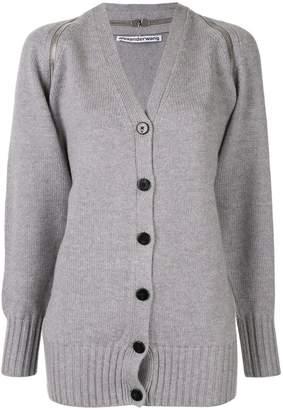 Alexander Wang splittable zip shoulder cardigan