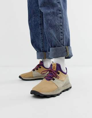 Timberland Brooklyn hiker trainers in beige ripstop