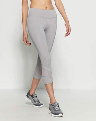 90db20c7257df Reebok Grey Heather Ultra Reach Skinny Athletic Capri Leggings