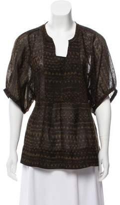 Etoile Isabel Marant Printed Wool Top