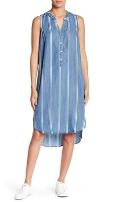 Love Stitch Stripe Chambray Dress