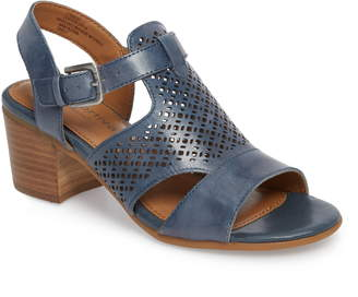 Comfortiva Amber Perforated Block Heel Sandal