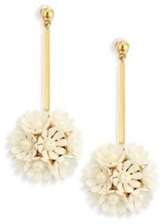 Lele Sadoughi Tahitian Nights Plumeria Faux Pearl Drop Earrings