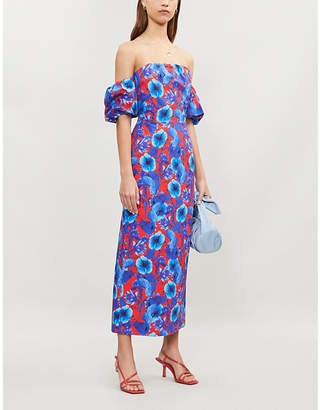 Borgo de Nor Adelita floral-print cotton dress