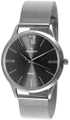 Peugeot Men's 'Mesh Roman Numeral' Quartz Stainless Steel Dress Watch