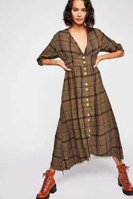 Cp Shades Laura Plaid Midi Dress
