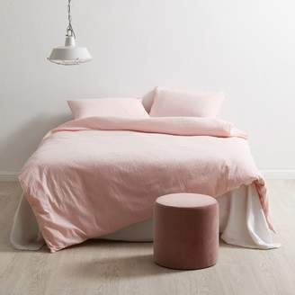 Blush Cotton Seersucker Quilt Cover Set