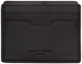 Rag & Bone Black Leather Card Holder
