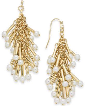 INC International Concepts I.n.c. Gold-Tone Imitation Pearl Shaky Chandelier Earrings