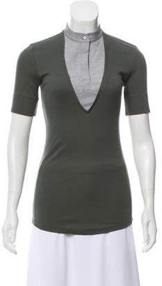 Rivamonti Layered Short Sleeve Top