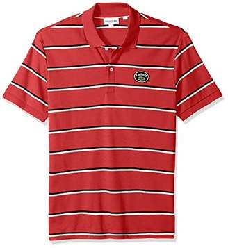 Lacoste Men's Short Sleeve PIMA HERTIAGE France Striped Polo