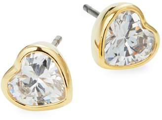 Kate Spade Heart-Shaped Crystal Stud Earrings
