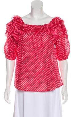 Saloni Stripe Short Sleeve Top w/ Tags