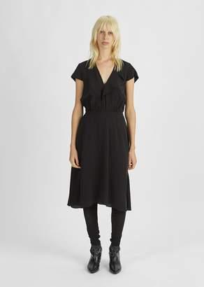 Etoile Isabel Marant West Asymmetrical Hem Dress Black