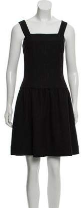 Chanel Sleeveless Woven A-Line Dress