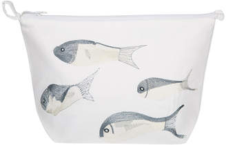 Saint Tropez Marinette Fish Cosmetic Bag - White