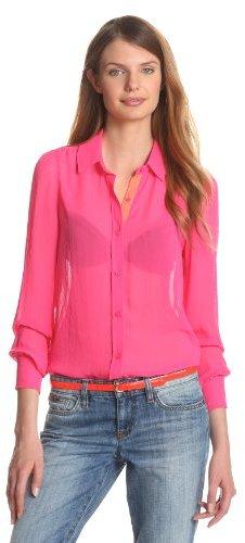 Joe's Jeans Women's Neon Button Down Blouse