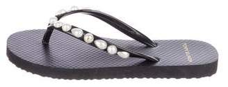 Tory Burch Embellished Thong Sandals