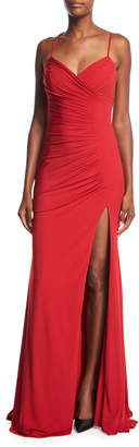 Jovani Sleeveless Ruched Evening Gown