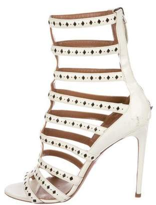 Alaia Patent Leather Multi-Strap Sandals