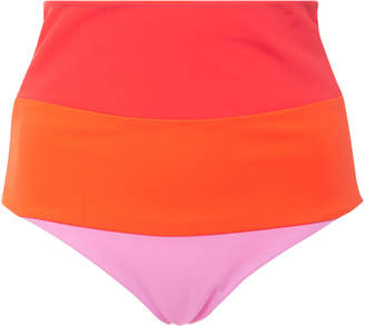 Mara Hoffman Lydia Colorblock High-Rise Bikini Bottom