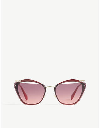 Miu Miu Mu54Ts irregular-frame sunglasses