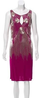 Naeem Khan Beaded Sleeveless Dress